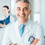 Doctor medical professional portrait smiling for photograph