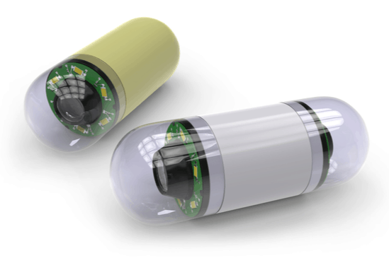 Image of capsules used by Gastroenterology Doctors during Endoscopy