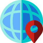 Map Marker Globe Icon Office Gastroenterology Locations