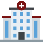 Location Hospital Building Medical Icon